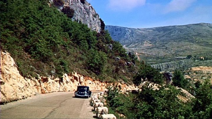 The provencal village of Gourdon from the Road to Caussols (D3) at the beginning of the hand at The collar of Alfred Hitchcocl - Movie Outfits and Products