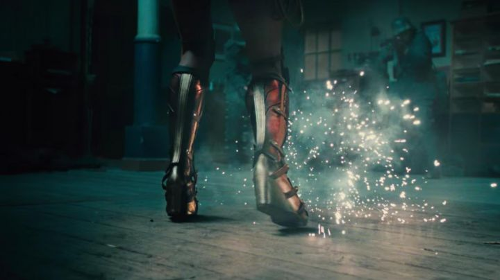 The red boots of Diana Prince (Gal Gadot) in Wonder Woman