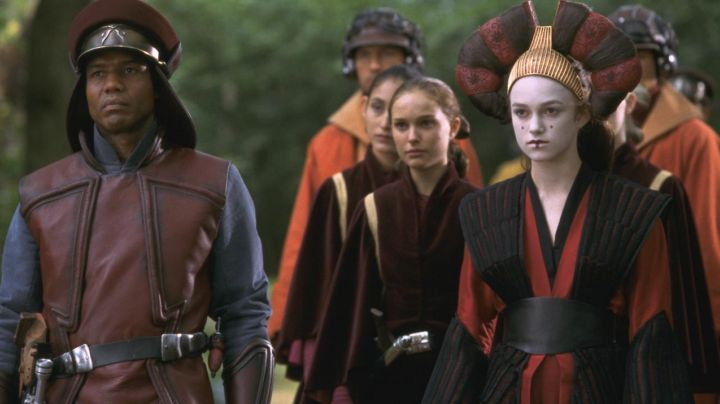 Fashion Trends 2021: The red dress of Sabe (Keira Knightley) in Star Wars I : The phantom menace