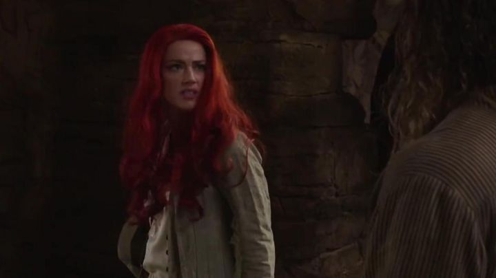 The red wig of Mera (Amber Heard) in Aquaman Movie