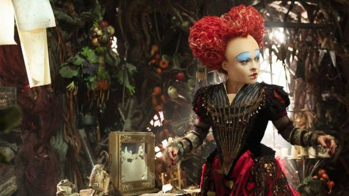 The red wig of the red queen (Helena Bonham Carter) in the film Alice in wonderland Movie