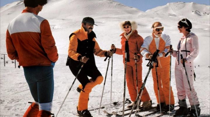 The resort in savoie in Val d'isere in The Bronzed are skiing - Movie Outfits and Products
