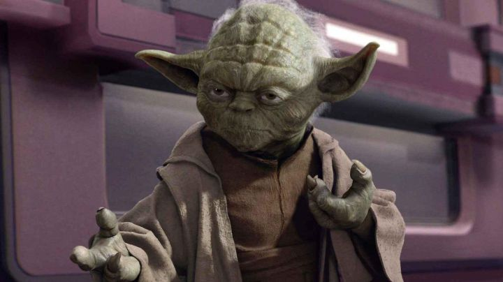 The right hand of Master Yoda in Star Wars I : The phantom menace - Movie Outfits and Products