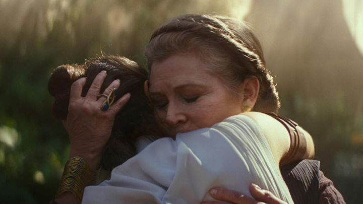 The ring worn by Leia Organa (Carrie Fisher) in Star Wars: The Rise of Skywalker movie