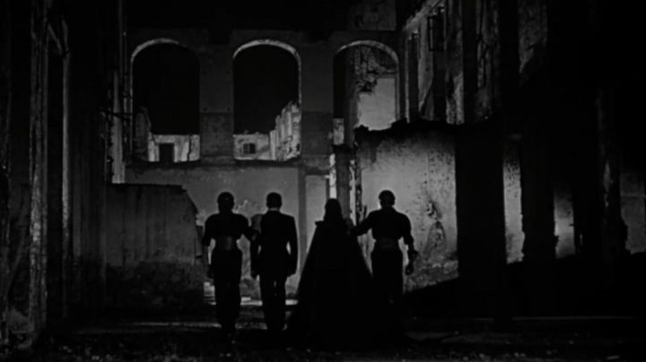 The ruins of the military school of Saint-Cyr bombed during the war in the film orphée (Orpheus) - Movie Outfits and Products