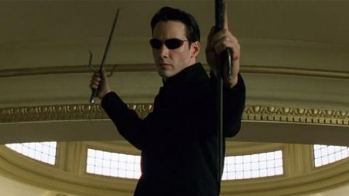 The sais of Neo (Keanu Reeves) in the Matrix Reloaded movie