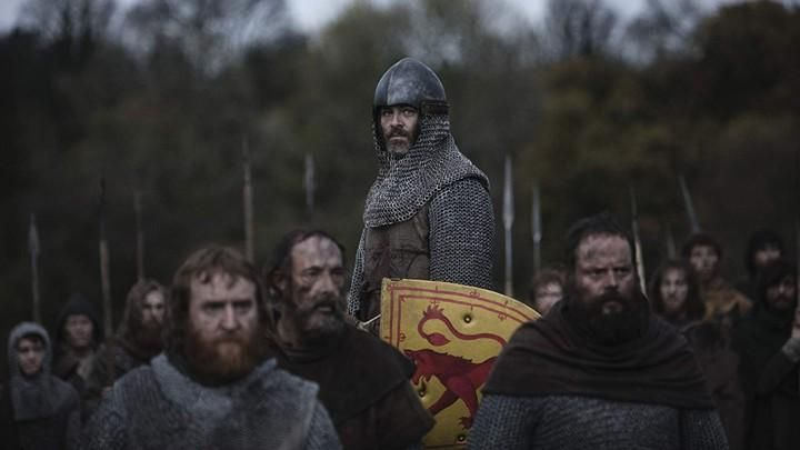 The shield scottish Robert the Bruce (Chris Pine) in Outlaw King : The King out-of-the-law Movie