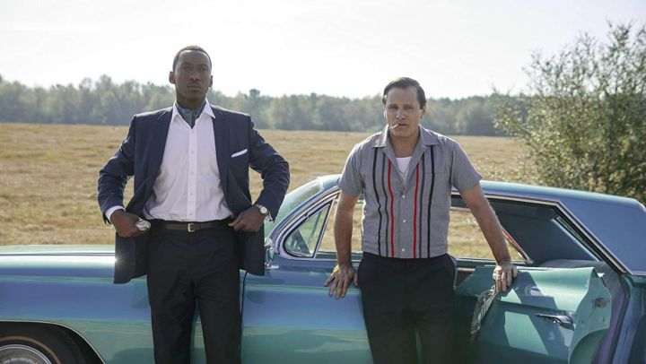 The shirt gray striped Tony Lip (Viggo Mortensen) in Green Book : On the roads of the south Movie