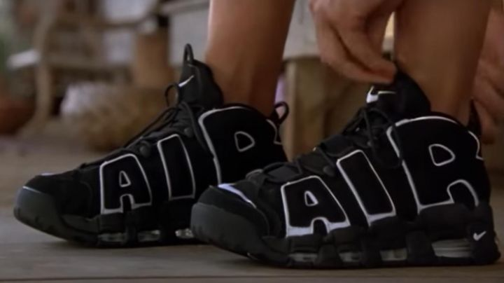 Fashion Trends 2021: The shoes Nike Air More Uptempo black George (Brenda Fraser) in George of the Jungle