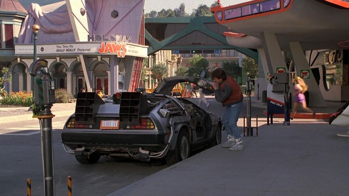 The shoes of Marty McFly (played by Michael J. Fox) in Back to the Future 2 movie