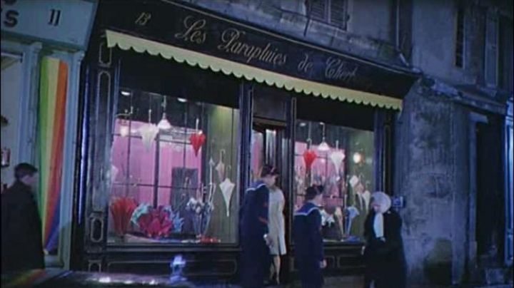 The shop, The umbrellas of Cherbourg at 13 rue du port in The umbrellas of Cherbourg - Movie Outfits and Products