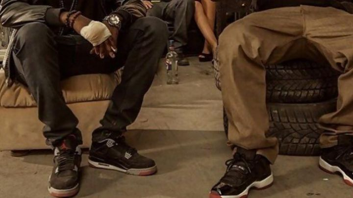 The sneakers Air Jordan 11 Bred of Kaaris in Fastlife - Movie Outfits and Products