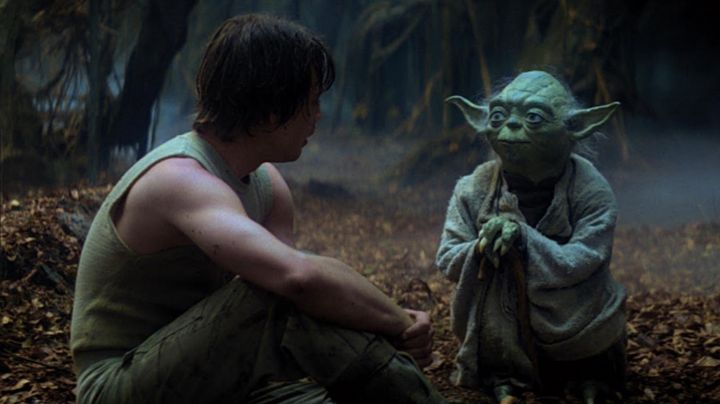 The statue, the actual size of Master Yoda in Star wars - Movie Outfits and Products
