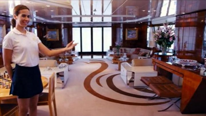 The stool Knoll Barcelona preview in the Yacht of Jordan Belfort (Leonardo DiCaprio) in the wolf of Wall Street - Movie Outfits and Products