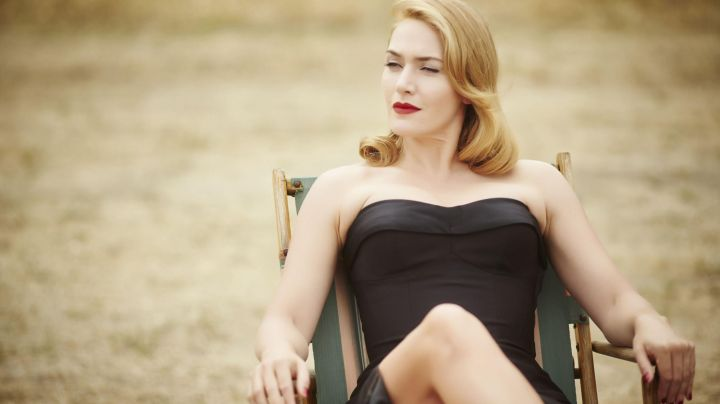 The strapless gown in satin black Tilly Dunnage (Kate Winslet) in Haute Couture - Movie Outfits and Products
