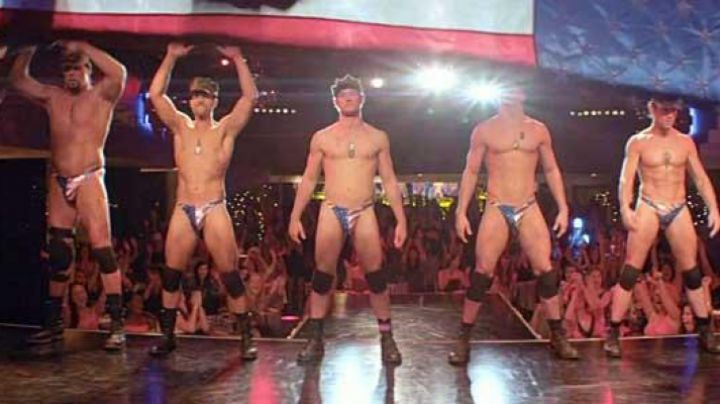 The string USA stripteasers in Magic Mike movie