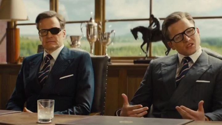 The suit Mr Porter of Harry Hart (Colin Firth) in Kingsman : The golden circle