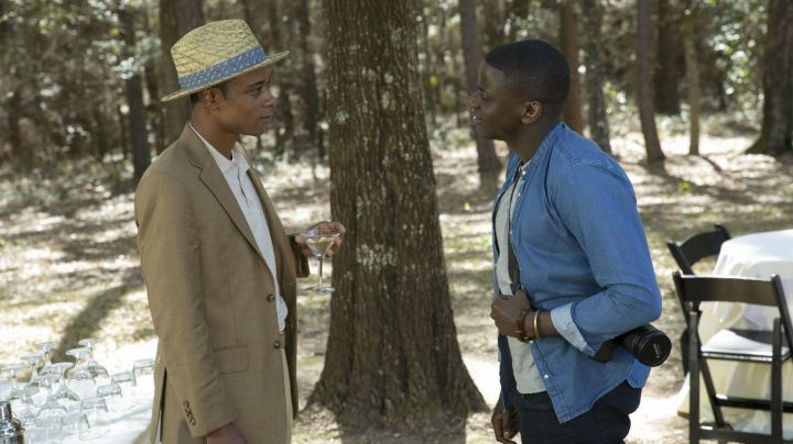 The suit jacket Andre Hayworth/Logan King (LaKeith Stanfield) in Get Out