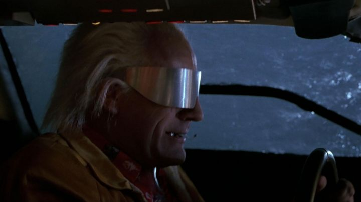 The sun glasses of the Dr. Emmett Brown (Christopher Lloyd) in Back to the future II movie