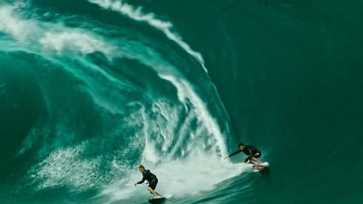 The surf spot Jaws in Peahi on the island of Maui in Hawaii in Point Break 2015