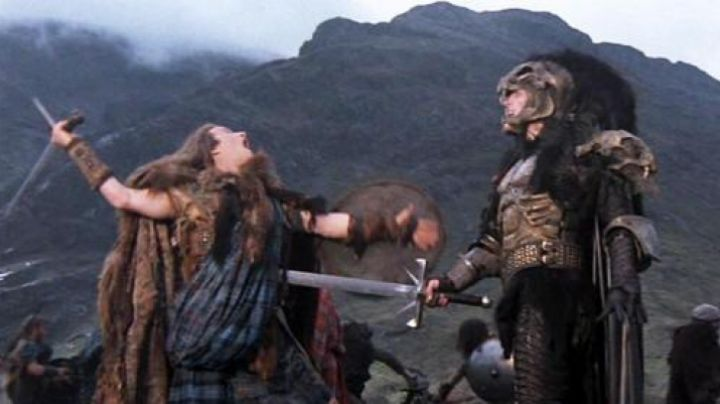 The sword of Kurgan (Clancy Brown) in Highlander - Movie Outfits and Products