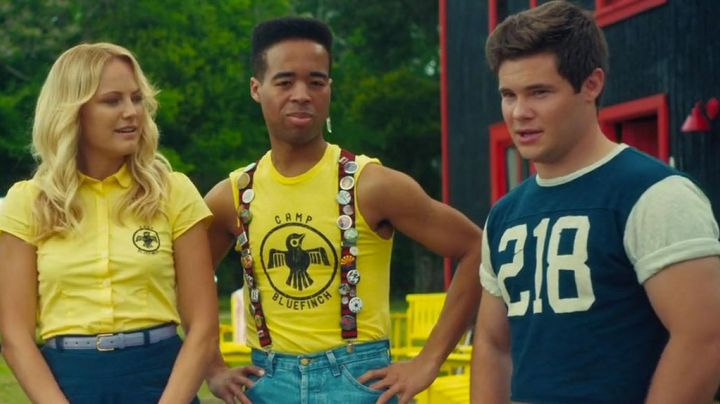 The t-shirt Camp Bluefinch yellow in The final Girl - Movie Outfits and Products