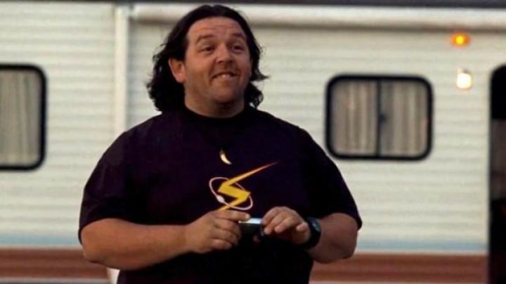 """Fashion Trends 2021: The t-shirt """"The Flash"""" Clive's Responsible (Nick Frost) in Paul"""