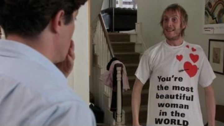 Fashion Trends 2021: The t-shirt You're the most beautiful woman Spike (Rhys Ifans) in thunderbolt in Notting Hill