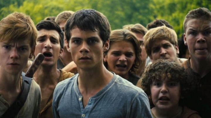 The t-shirt of Thomas (Dylan O'brien) in The Maze
