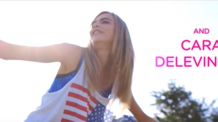 Fashion Trends 2021: The tank top american flag, Cara Delevingne in Kids in Love