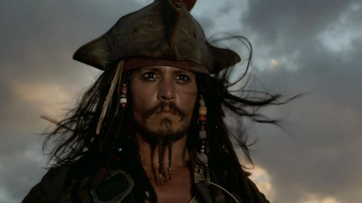 The three-cornered hat of Jack Sparrow (Johnny Depp) in Pirates of the Caribbean The curse of the Black Pearl movie
