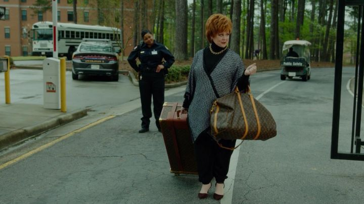 The travel bag Louis Vuitton Michelle Darnell (Melissa McCarthy) in The Boss movie