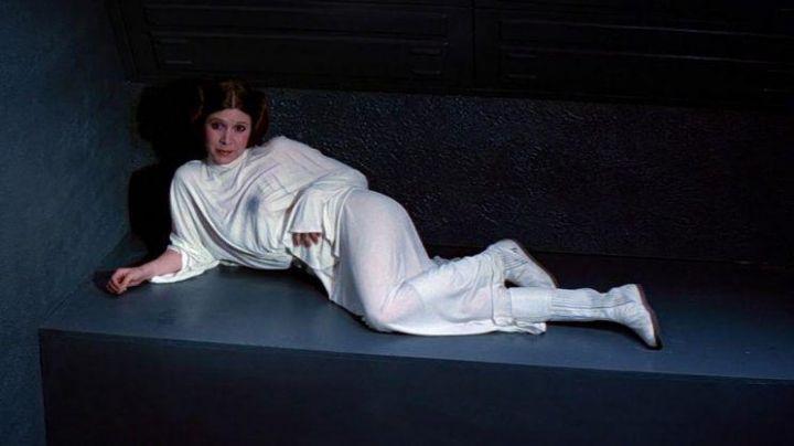 The tunic of princess Leia (Carrie Fisher) in Star Wars : The Star War movie