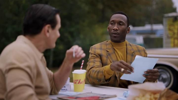 The turtleneck sweater yellow of Don Shirley (Mahershala Ali) in Green Book Movie