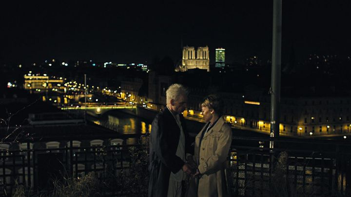 The view of the Notre Dame Cathedral in Paris, Holy Motors - Movie Outfits and Products