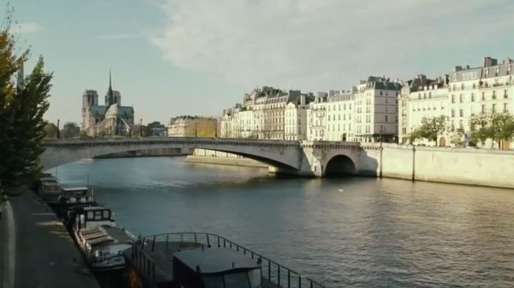 The view on the Cathedral Notre Dame de Paris in Mr Morgan's Last love - Movie Outfits and Products