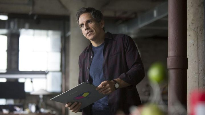 The vinyl disk 90125 by Yes Josh (Ben Stiller) in ' While We're Young - Movie Outfits and Products