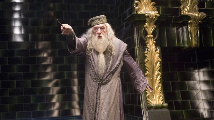 The wand of Albus Dumbledore (Michael Gambon) in Harry Potter and the Order of the phoenix movie