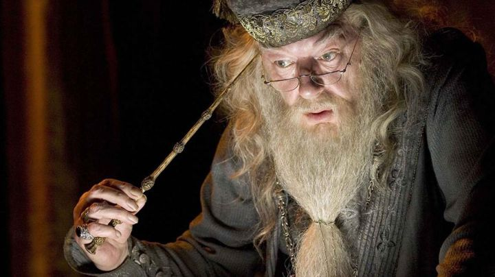 The wand of Albus Dumbledore (Michael Gambon) in Harry Potter and the goblet of Fire movie