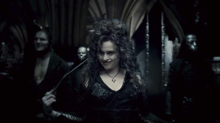 The wand of Bellatrix Lestrange (Helena Bonham Carter) in Harry Potter and the goblet of fire movie