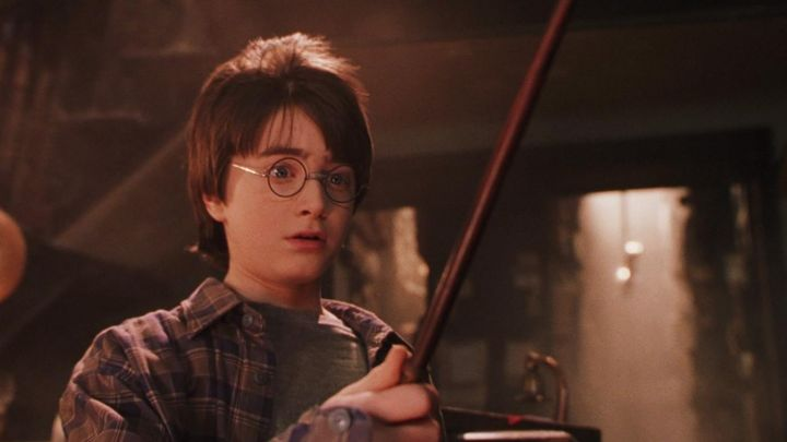 The wand of Harry Potter (Daniel Radcliffe) in Harry Potter and the sorcerer's stone movie
