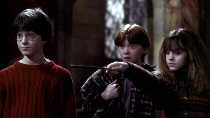 The wand of Hermione Granger (Emma Watson) in Harry Potter and the sorcerer's stone movie