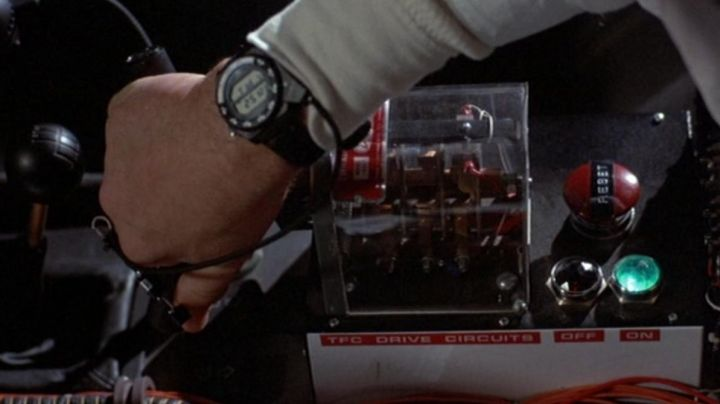 The watch Seiko A826 Doc Brown (Christopher Lloyd) in Back to the future movie