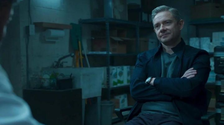 The watch of Everett K. Ross (Martin Freeman) in a Black Panther