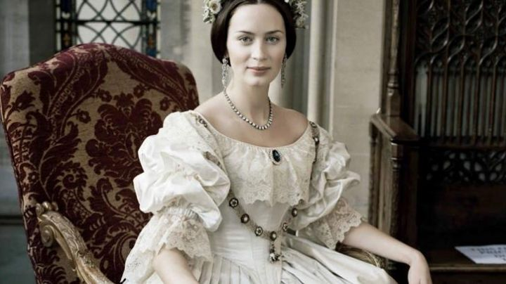 The wedding dress of Queen Victoria (Emily Blunt) in The Young Victoria
