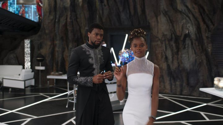 The white dress Shuri (Letitia Wright) in Black Panther Movie