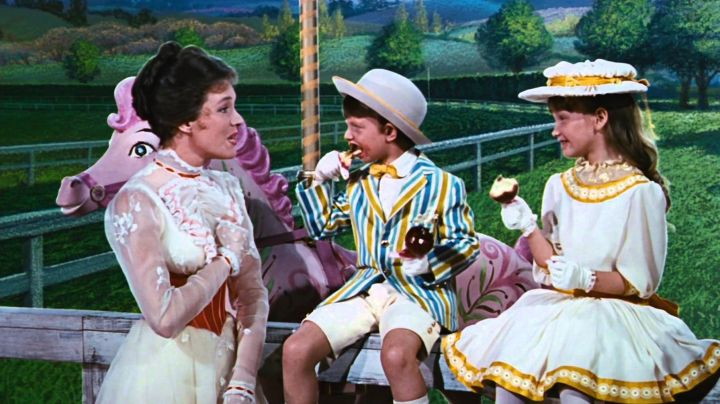 The wig-Mary Poppins (Julie Andrews) in the movie Mary Poppins - Movie Outfits and Products