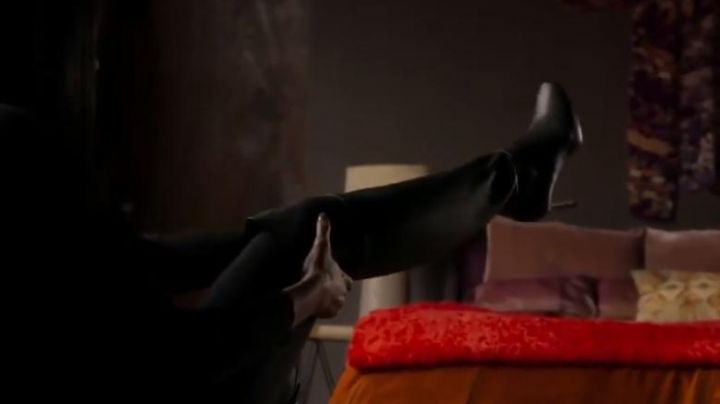 Thigh-high boots black leather Mary Goodwin (Taraji P. Henson) in Proud Mary - Movie Outfits and Products