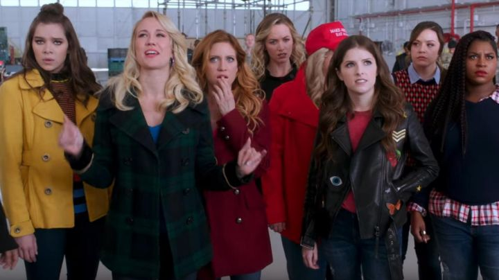 Third Eye iron-on patch worn by Beca Mitchell (Anna Kendrick) as seen in Pitch Perfect 3 - Movie Outfits and Products