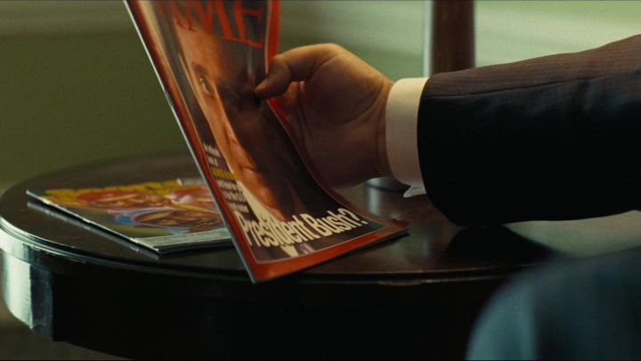 Time Magazine read by Dick Cheney (Christian Bale) in Vice Movie